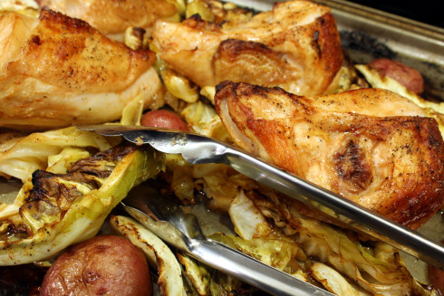 Pan-Roasted Chicken Cabbage and Potatoes
